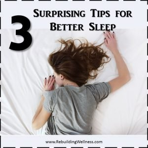 3 Tips Better Sleep